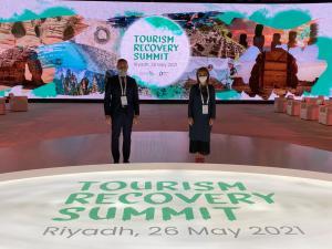 Almudena Maillo y Héctor Coronel_Tourism Recovery Summit Riad