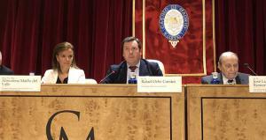 Maíllo en la sesión audiovisual 'Madrid, capital mundial del idioma español'