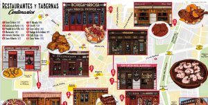 Mapa Cultural Ilustrado Restaurantes y Tabernas Centenarias